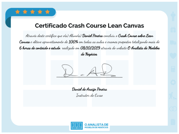 Certificado Crash Course Lean Canvas